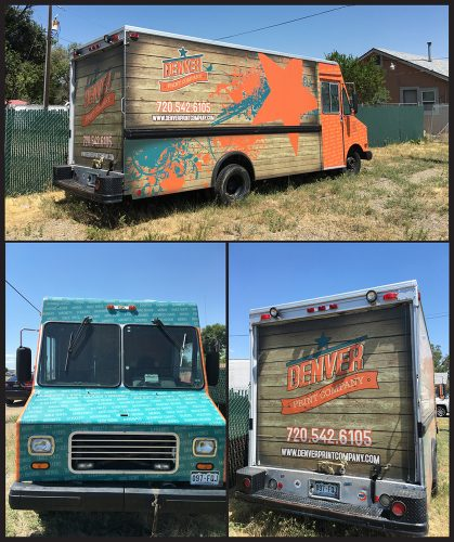 Truck wrap Denver Print Company delivery truck