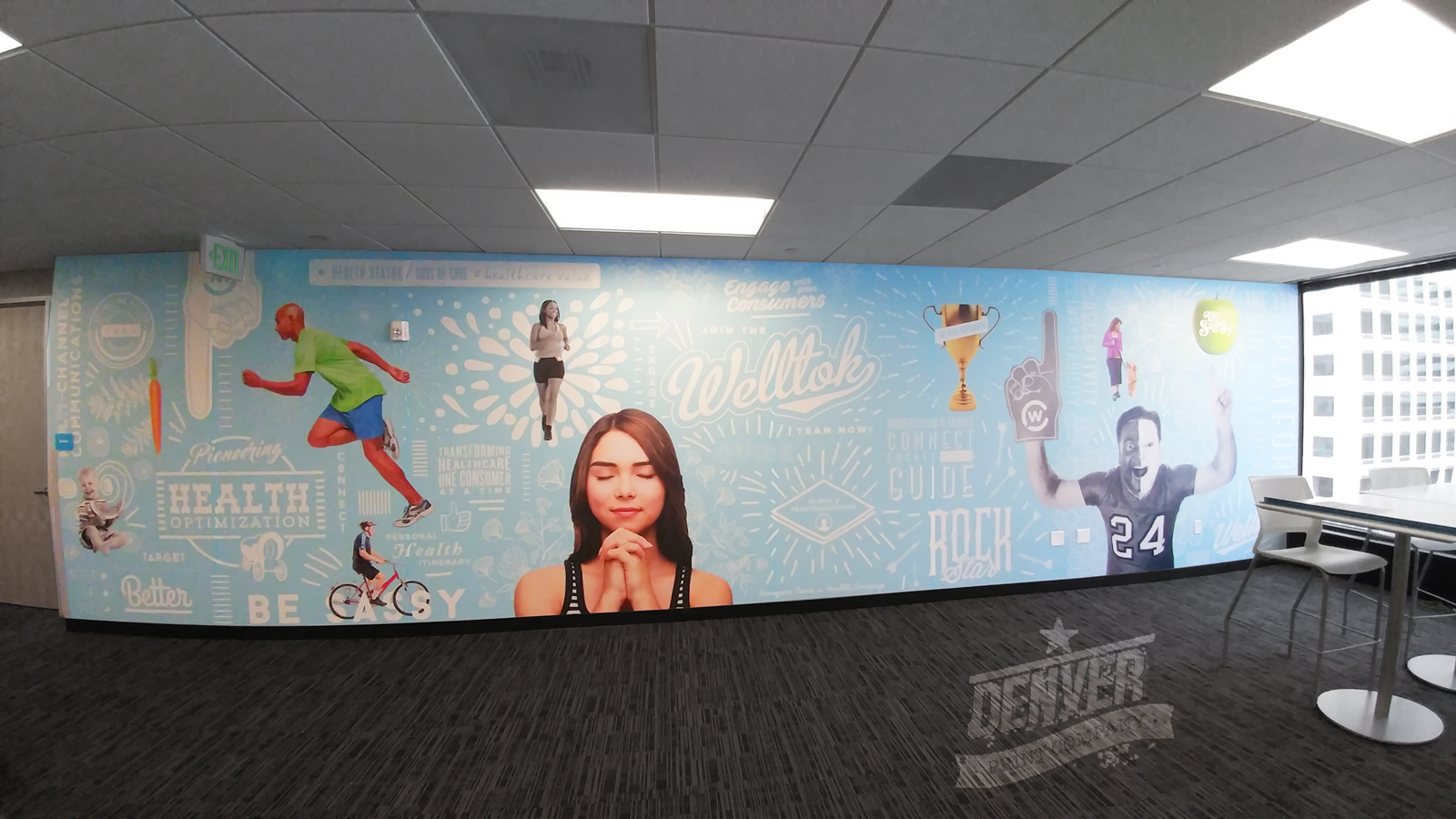 welltok wall graphic