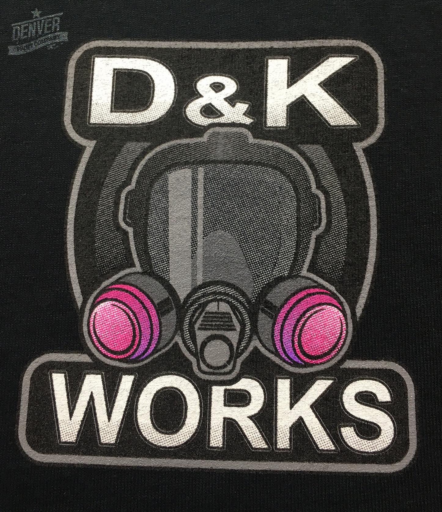 d&k works polo shirt