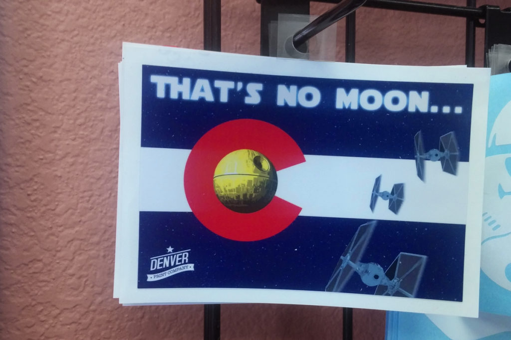 thats no moon star wars colorado denver print sticker