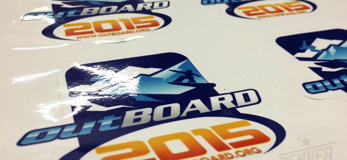 Denver printing company · out board snowboarding stickers