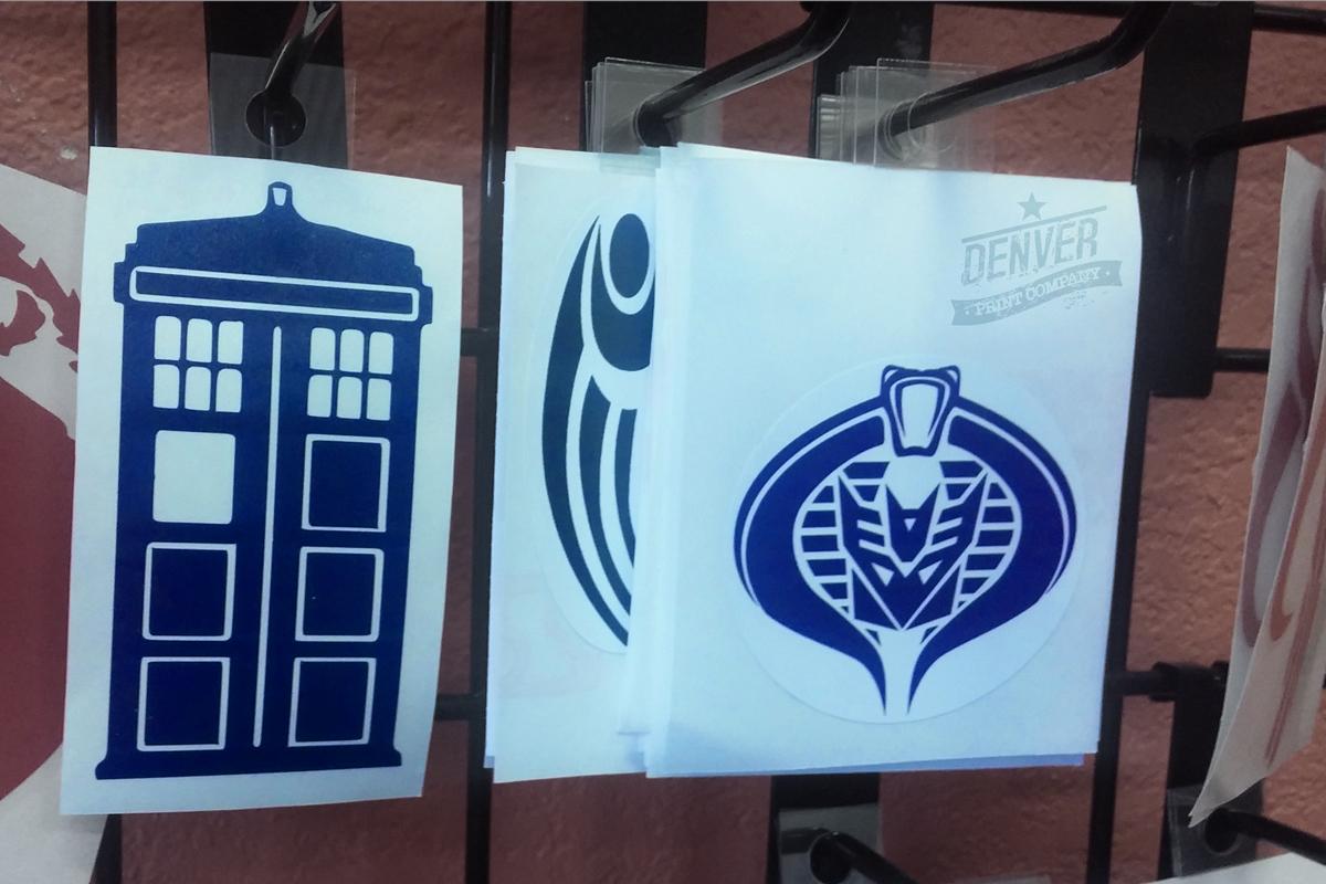 tardis cobra decepticons stickers