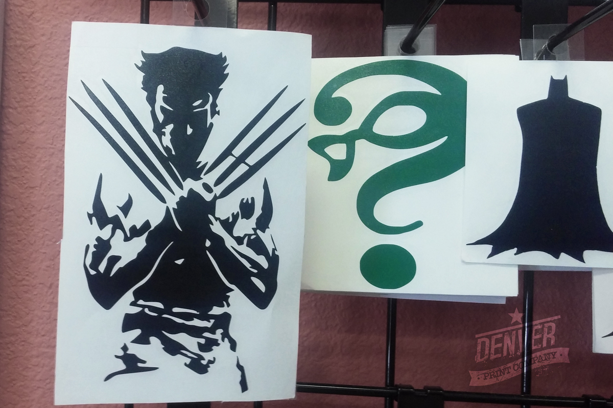 wolverine riddler batman stickers