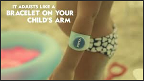 child wearing nivea braclet