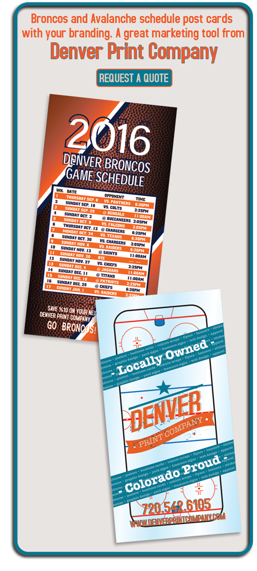 branded sports schedules ad