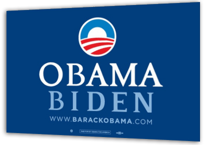 obama biden yard sign