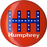 hubert humphrey button