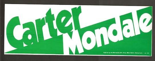 carter mondale campaign poster