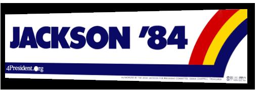 jessie jackson campaign bumper sticker