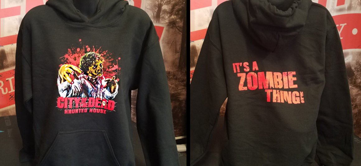 city of the dead haunted house hoodie
