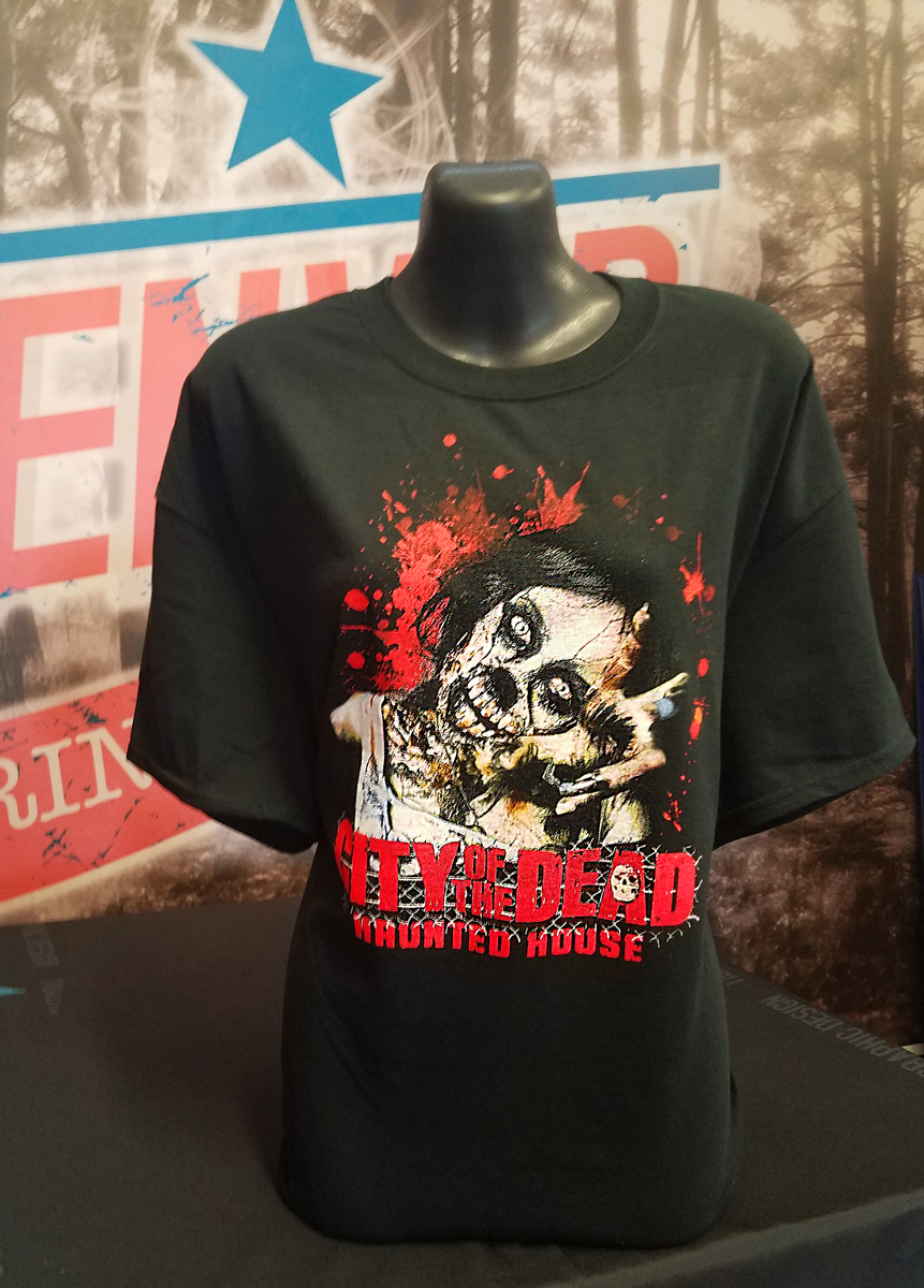 city of the dead haunted house t-shirt