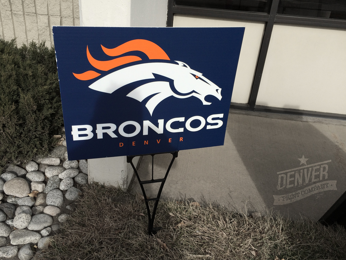 custom denver broncos yard sign
