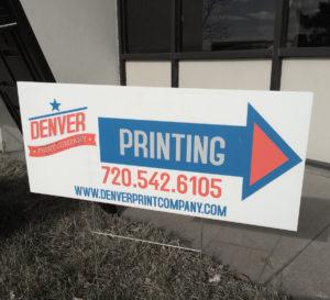 denver print company custom yard sign