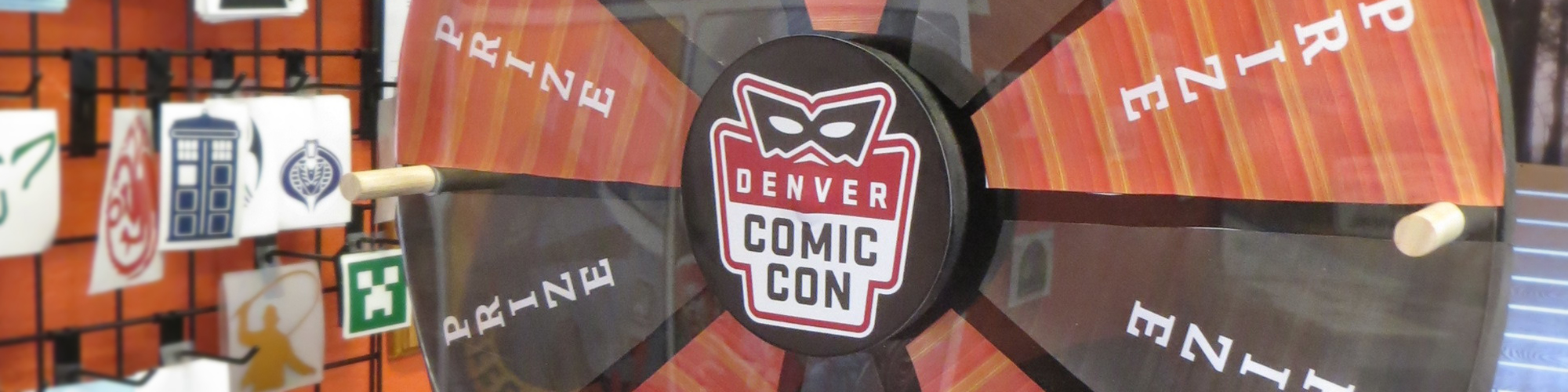 denver comic con prize wheel