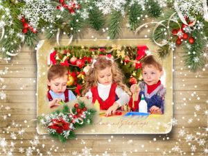 christmas card mock-up