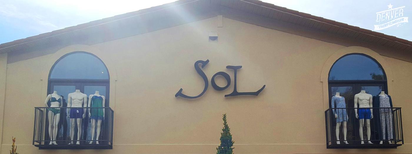 sol storefront sign denver print company