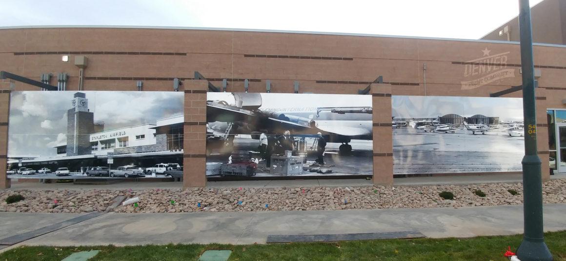 stapleton vintage airport photos mural denver print company