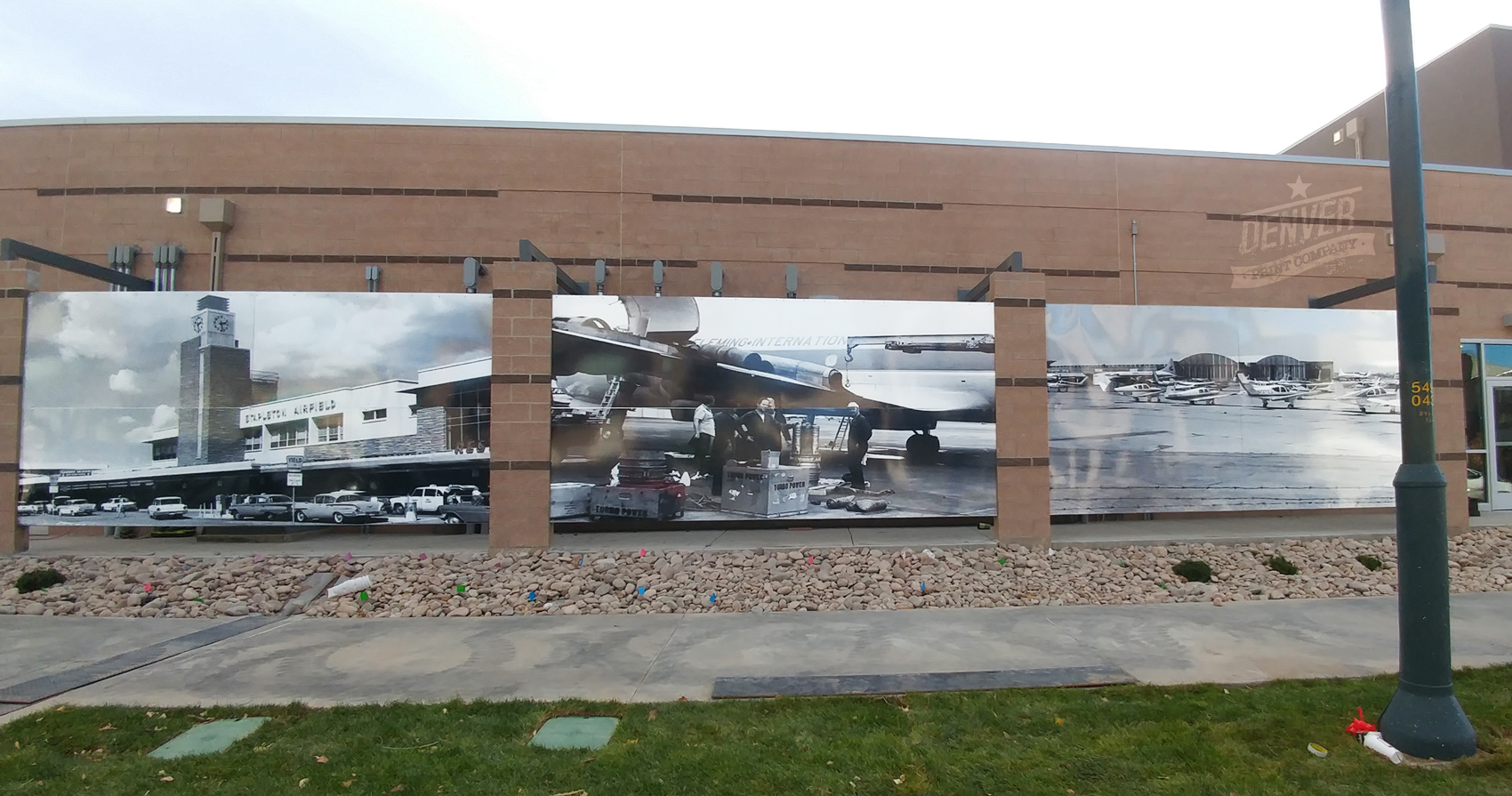 stapleton vintage airport photos mural denver print company