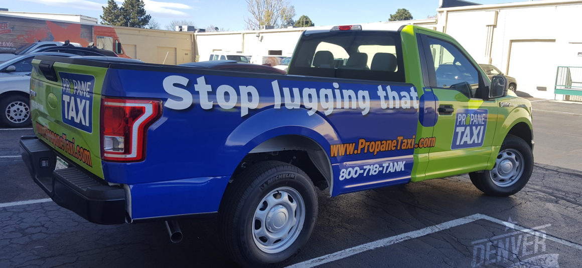 full vehicle wrap propane taxi denver print