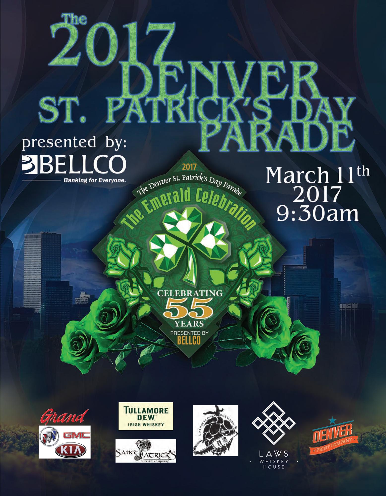 Denver Print Designs for St Patrick s Day Parade Denver