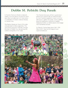 dublin parade page in denver st patricks day magazine