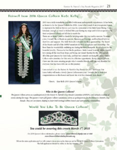 queen colleen page denver st patricks day parade magazine