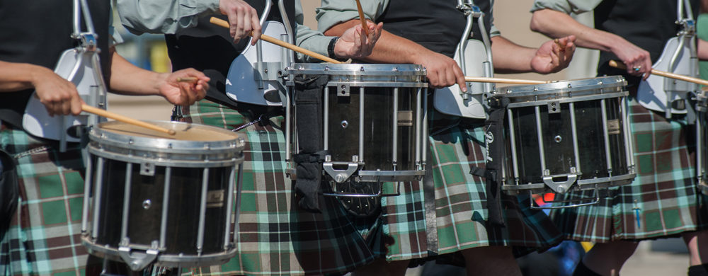 st patricks day parade drummers