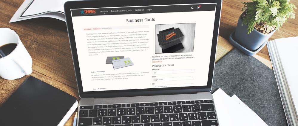 laptop with denverprintshop.com