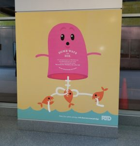 dumb ways to die wall graphic