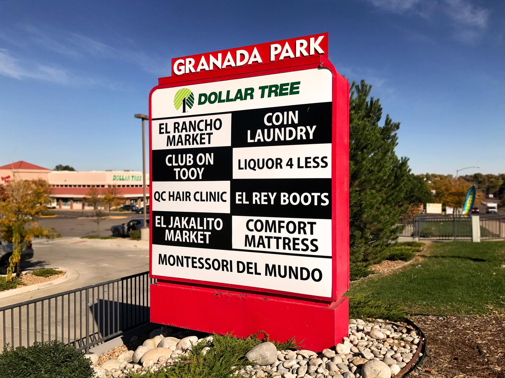 granada park monument sign
