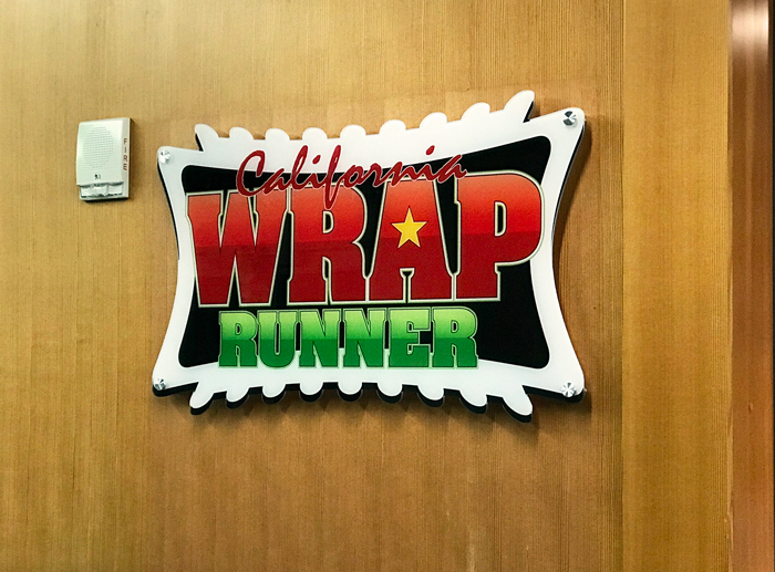 California wrap runner wall sign