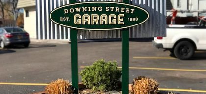 downing street garage post and panel