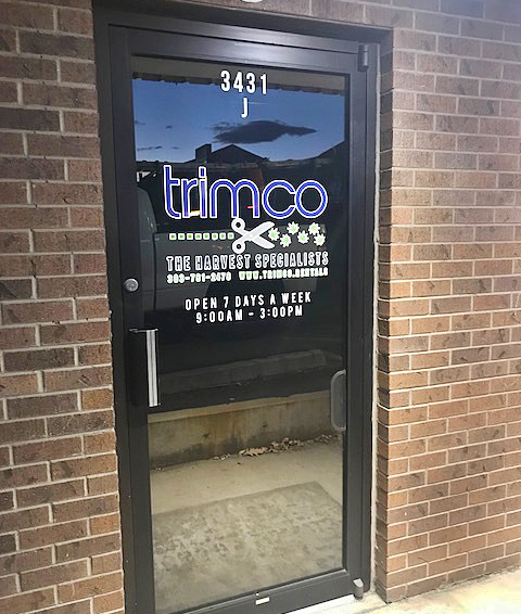 Trimco window graphic