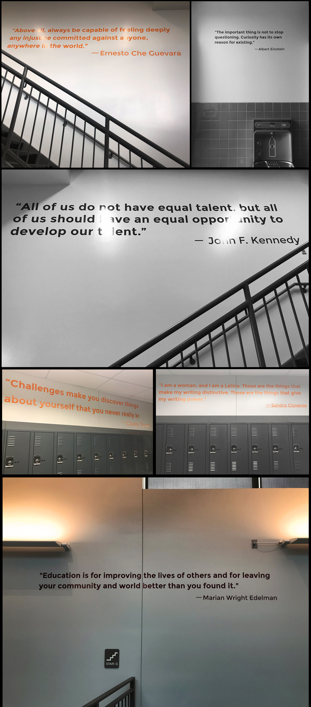 rise school wall graphic quotes