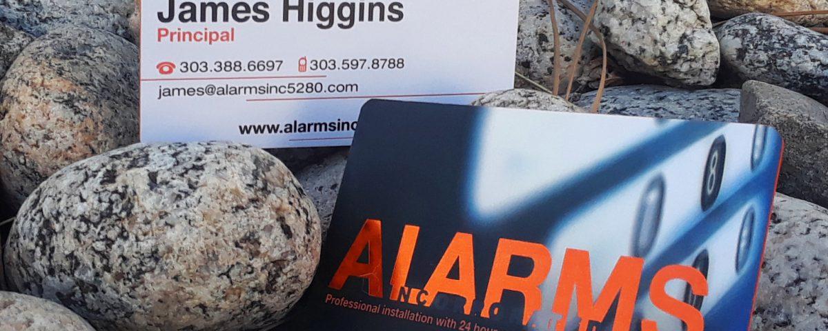 alarms inc business cards