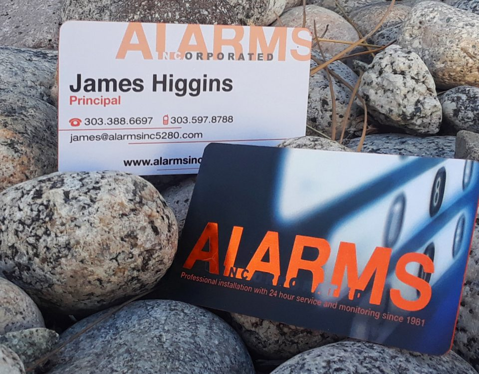 alarms inc business cards
