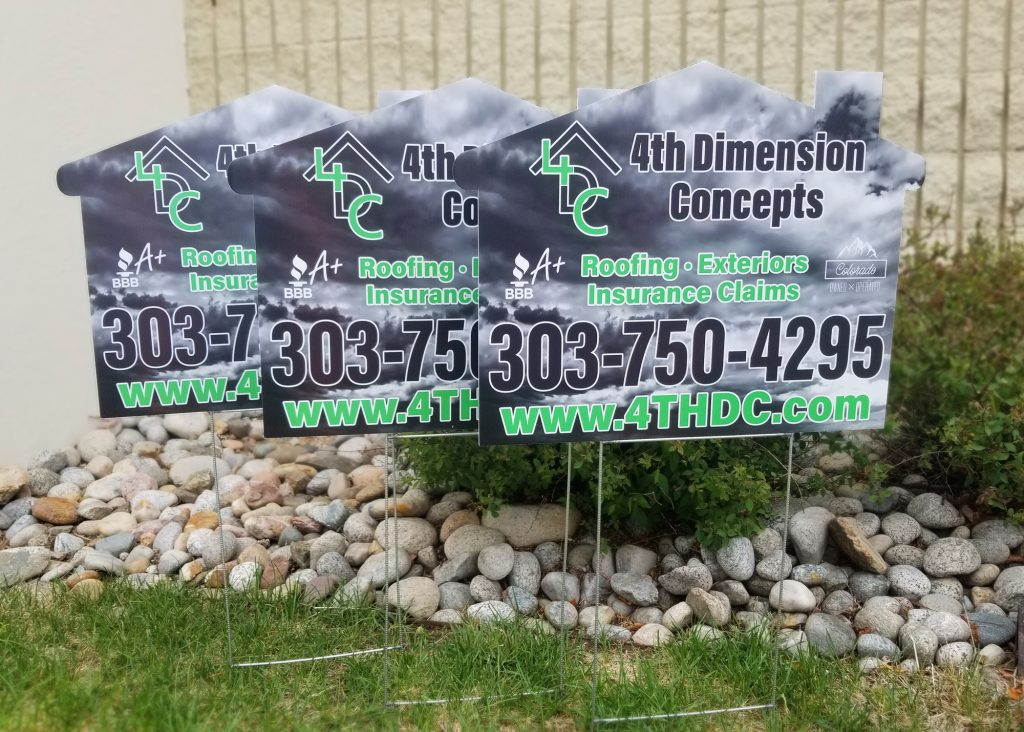 4th dimension concepts yard signs