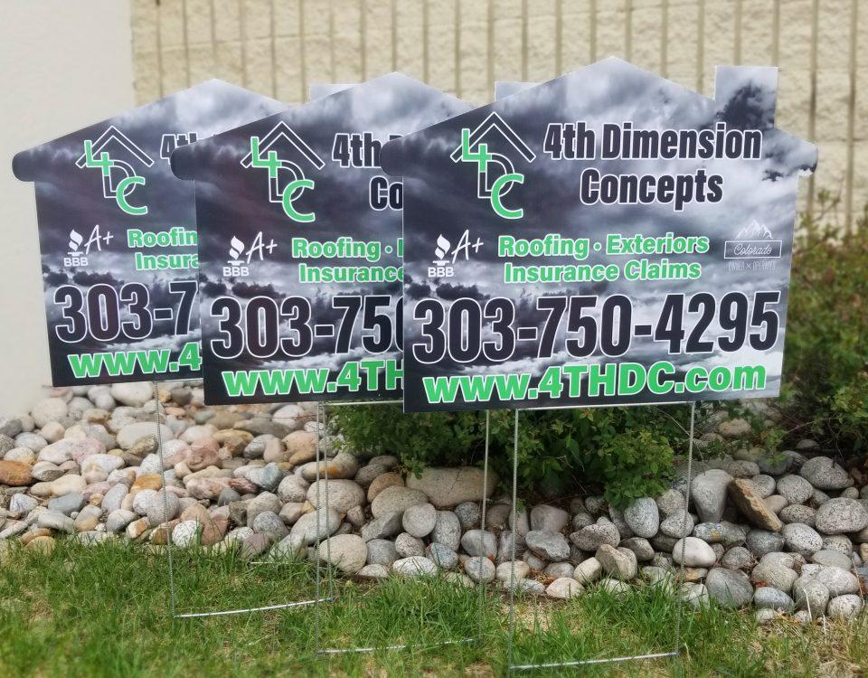 4th demension yard signs