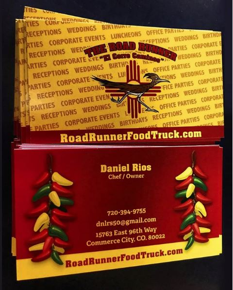 road runner grill business cards