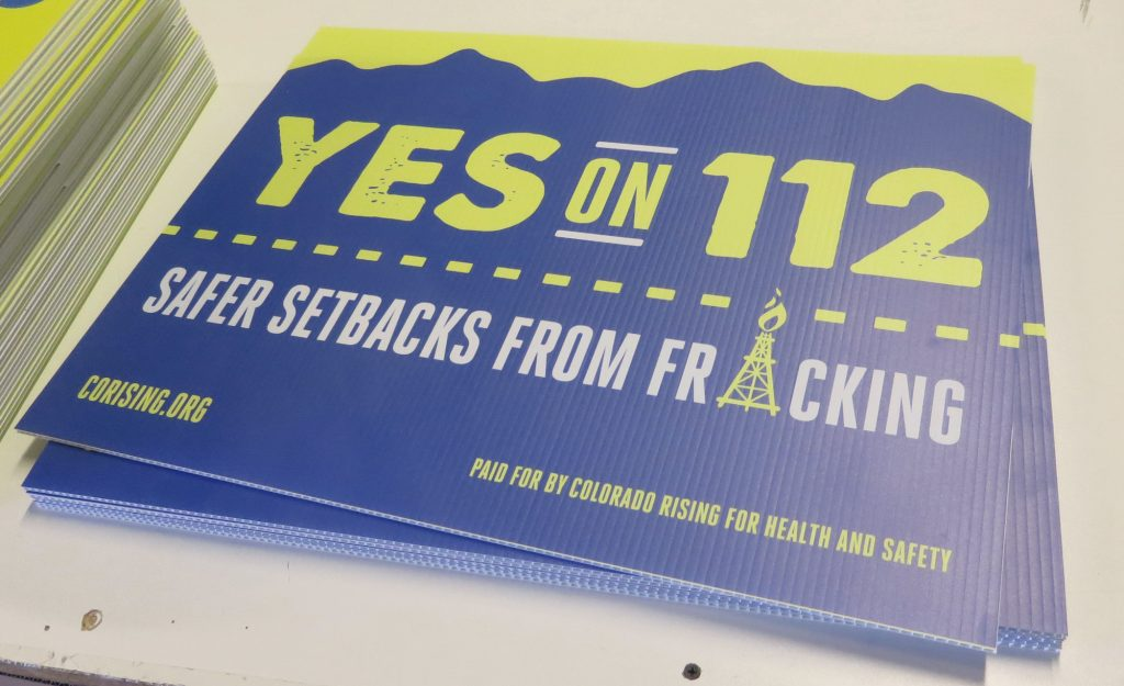 yes on 112 yard signs