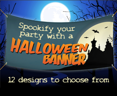spookify your party with a halloween banner