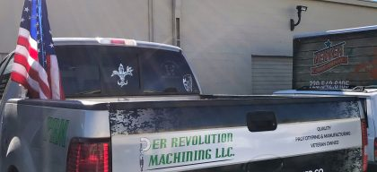 Tailgate graphics for Per Revolution Machining