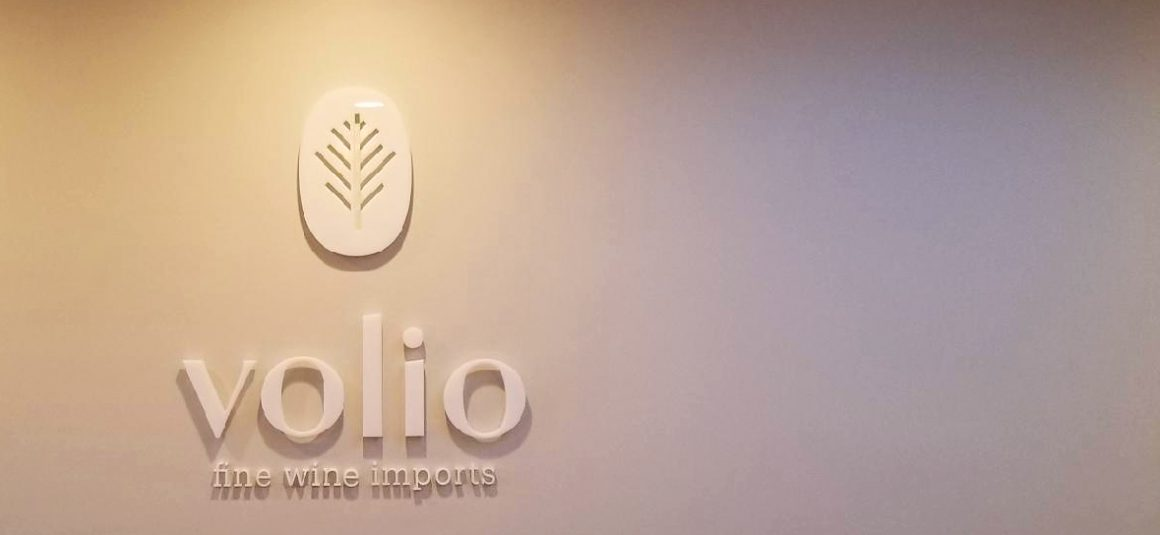 Lobby Sign for Volio Fine Wine Imports