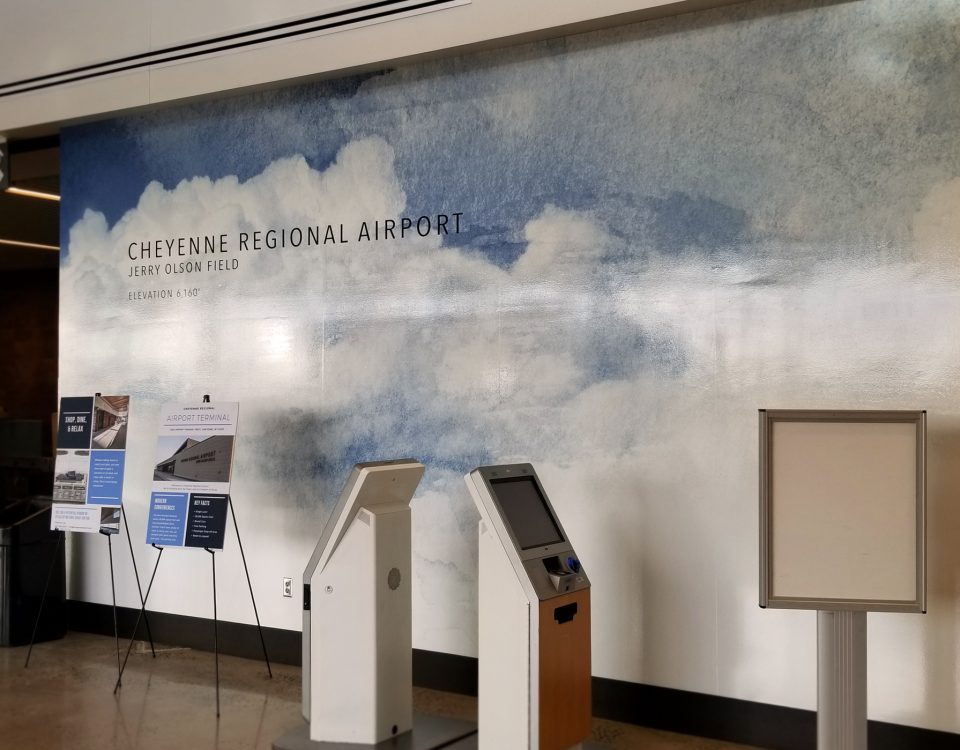 cheyenne airport wall graphic