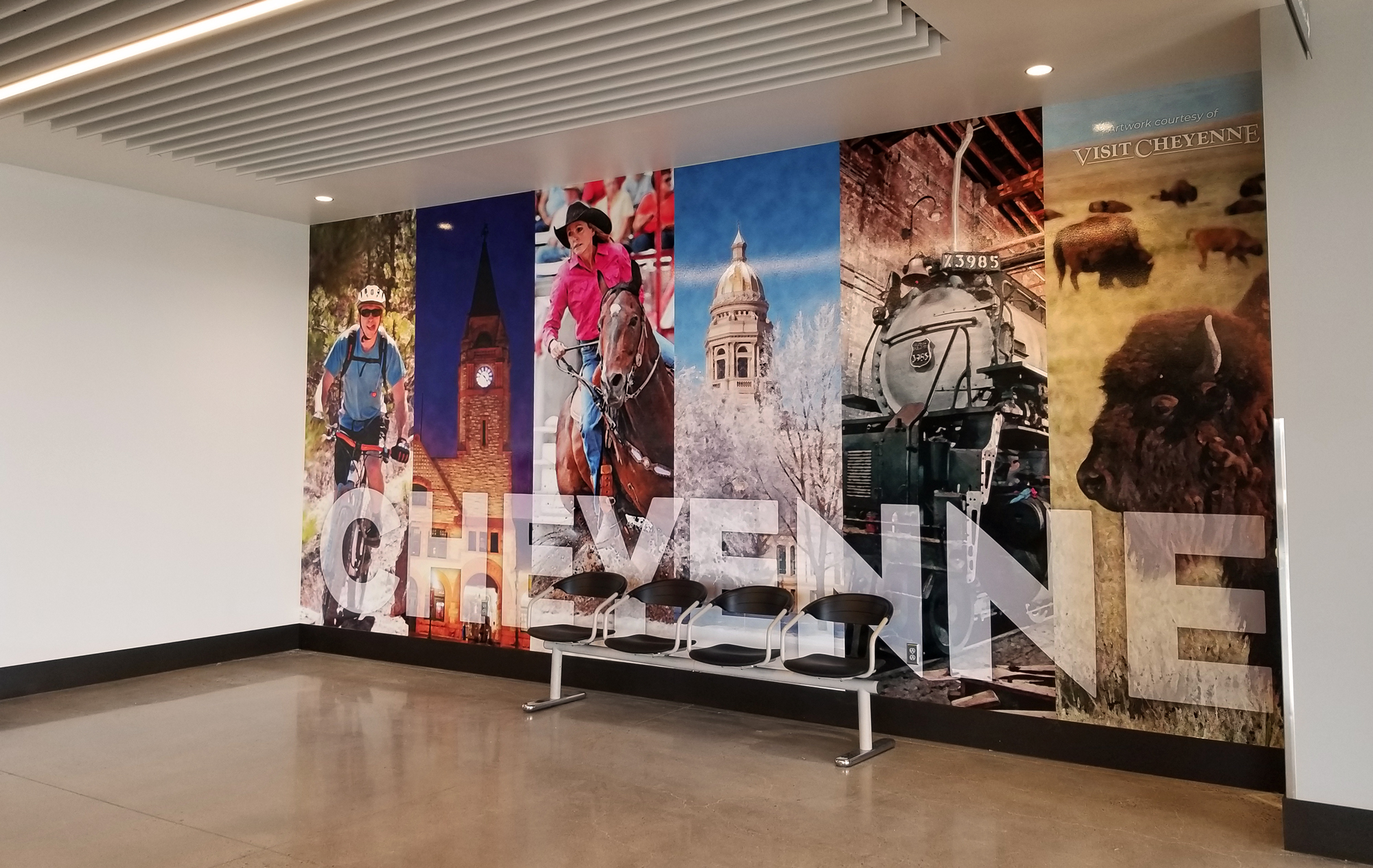 cheyenne airport wall graphic