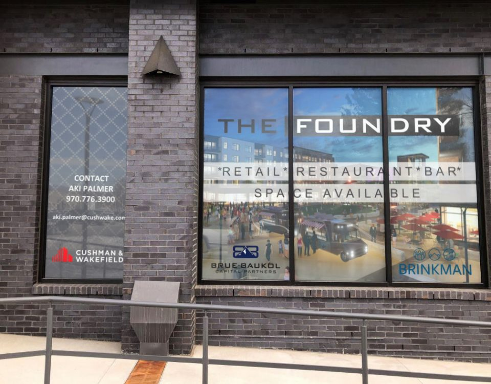 the foundry loveland window graphics