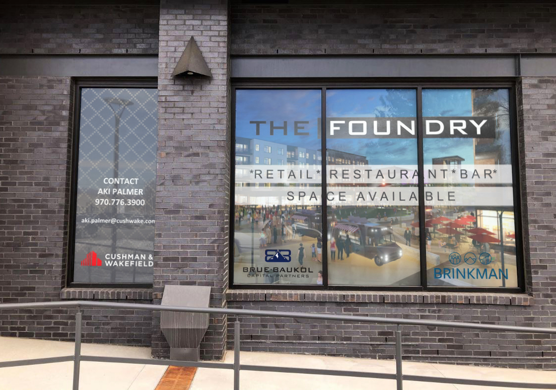 window graphics for the foundry loveland