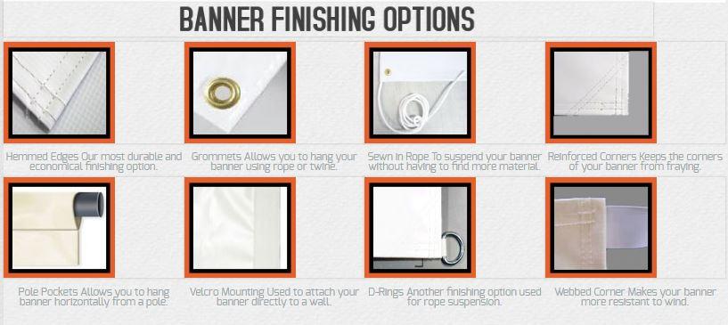 banner finishing options