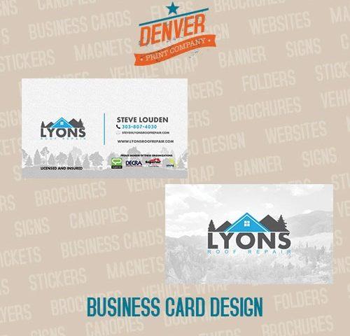 lyons roof repair business cards