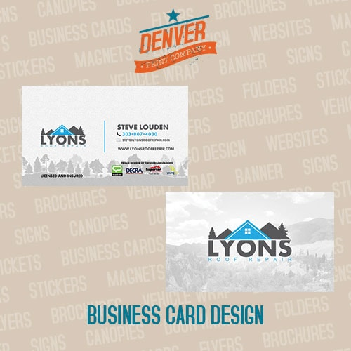 lyons roof repair business cards